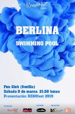 Cartel del concierto de Berlina y Swimming Pool en FunClub Sevilla 2019