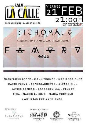 Cartel del concierto de Bicho Malo Band & Friends en sala La Calle Sevilla 2020