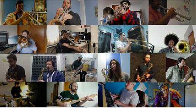 Foto promocional de la Big Band del Conservatorio Superior de Música Manuel Castillo