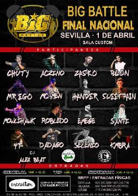 Concierto: Big Battle Final Nacional en Custom Sevilla 2018