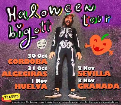Cartel de la gira andaluza de Halloween 2019 de Bigott