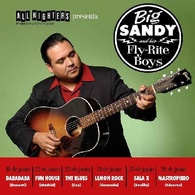 Cartel de la gira europea de Big Sandy & His Fly-Rite Boys