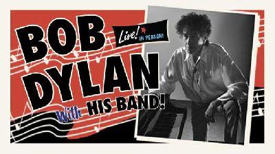 Cartel de la gira conciertos de Bob Dylan