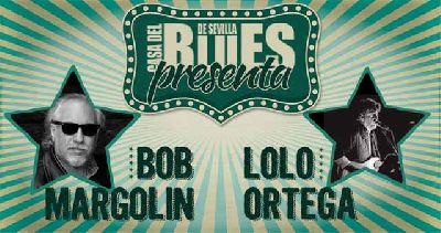 Cartel del concierto de Bob Margolin y Lolo Ortega en el Teatro Alameda de Sevilla 2019