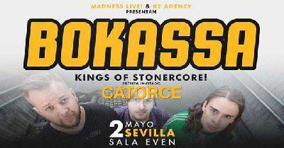 Cartel del concierto de Bokassa y Catorce en la Sala Even Sevilla 2019