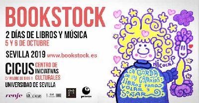 Cartel de la cuarta edición del Bookstock Sevilla en el CICUS de Sevilla