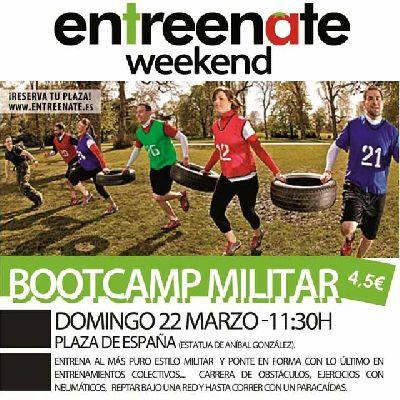 Bootcamp Militar de Entreenate en la Plaza de España Sevilla