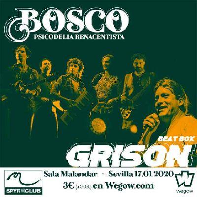 Cartel del concierto de Bosco y Grison BeatBox en Malandar Sevilla 2020