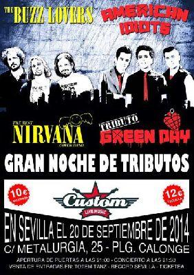 Concierto: American Idiots y Buzz Lovers en Custom Sevilla