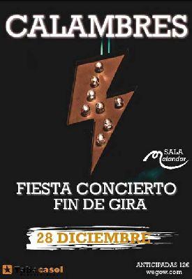 Cartel del concierto de Calambres en Malandar Sevilla 2019