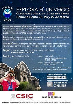 Campamento de Semana Santa en la Casa de la Ciencia de Sevilla