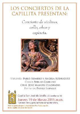Conciertos de la Capilla de San José Sevilla (marzo 2015)
