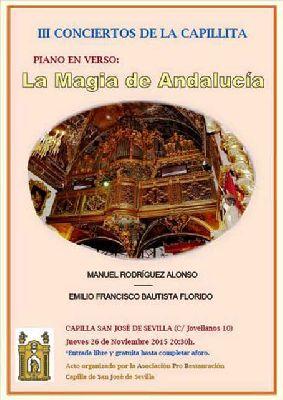 Concierto: la Mágia de Andalucía en la Capilla de San José Sevilla