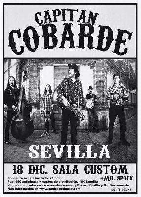 Concierto: Capitán Cobarde en Custom Sevilla 2015