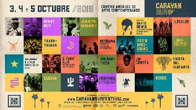 Cartel del Festival Caravan Sur en el CAAC Sevilla 2019