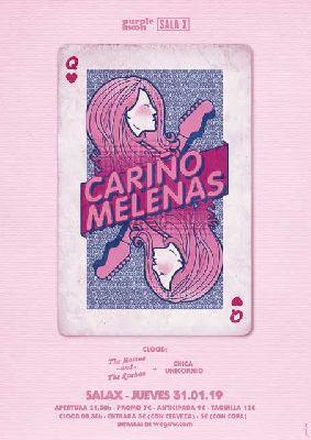 Cartel del concierto de Cariño y Melenas en la Sala X de Sevilla