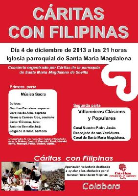 Concierto solidario Cáritas con Filipinas en la Magdalena