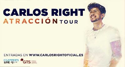 Cartel de la gira del disco Atracción de Carlos Right