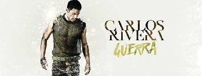 Cartel de la gira Guerra 2019 de Carlos Rivera