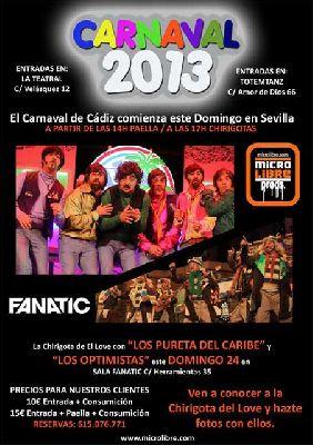 Carnaval de Cádiz 2013 en la Sala Fanatic de Sevilla