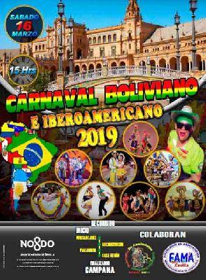 Cartel del quinto Carnaval folclórico boliviano e iberoamericano en Sevilla