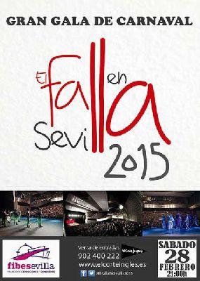 Gala 2015 del Carnaval de Cádiz, El Falla en Sevilla (Fibes)