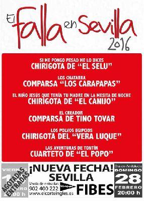 Gala 2016 del Carnaval de Cádiz, El Falla en Sevilla (Fibes)
