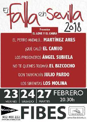 Gala 2018 del Carnaval de Cádiz, El Falla en Sevilla (Fibes)