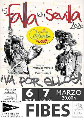Cartel de la gala de Carnaval de Cádiz El Falla en Sevilla 2020
