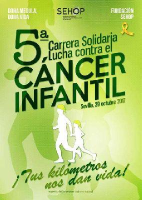 V Carrera Solidaria contra el cáncer infantil en Sevilla 2017