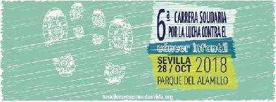VI Carrera Solidaria contra el cáncer infantil en Sevilla 2018