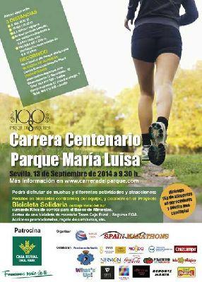 Carrera solidaria en el Parque de María Luisa de Sevilla