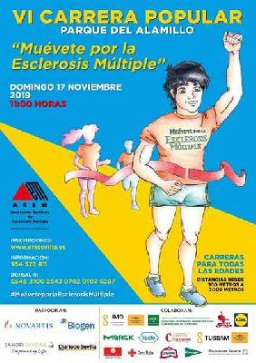 Cartel de la sexta Carrera Popular Muévete por la esclerosis múltiple en Sevilla