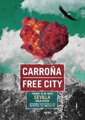 Concierto: Carroña y Free City en la Sala Even Sevilla 2018