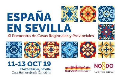 Cartel del XI Encuentro de Casas Regionales España en Sevilla 2019