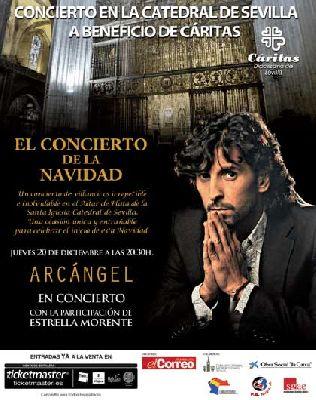 Concierto Benéfico de Navidad de Arcángel en Catedral de Sevilla
