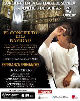 Concierto Benéfico de Esperanza Fernández en la Catedral Sevilla