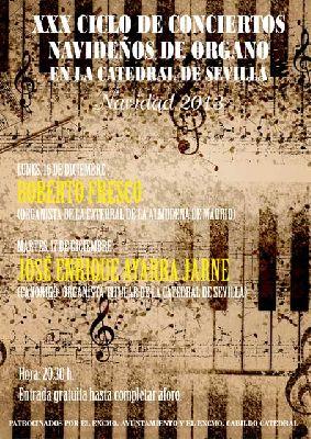 Conciertos de Órgano en la Catedral de Sevilla Navidad 2013