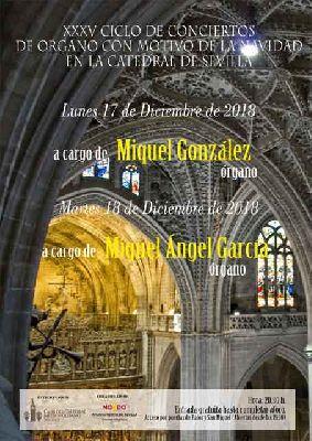 Conciertos de Órgano en la Catedral de Sevilla Navidad 2018