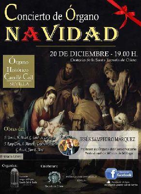Concierto de Navidad en el órgano de la Escuela de Cristo Sevilla 2015