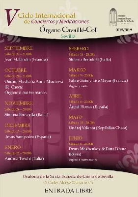 Temporada 2018-2019 de conciertos en el Órgano Cavaillé-Coll de Sevilla