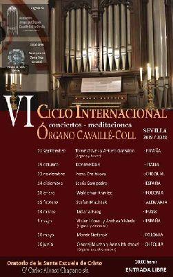 Cartel del sexto Ciclo Internacional del Órgano Cavaillé-Coll de Sevilla