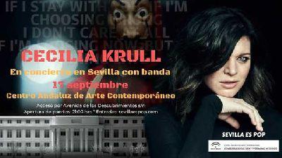 Cartel del concierto de Cecilia Krull en el CAAC Sevilla 2019