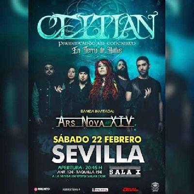 Cartel del concierto de Celtian y Ars Nova XIV en la Sala X de Sevilla 2020