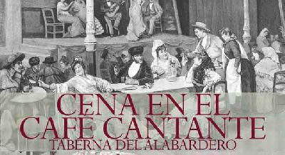 Cena musical en el Café Cantante en Sevilla