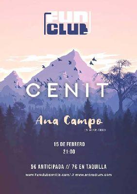 Cartel del concierto de Cenit y Ana Campo en FunClub Sevilla 2019