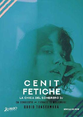 Cartel del concierto de Cenit y Fetiche en la sala Obbio de Sevilla