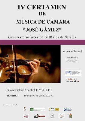 IV Certamen de Música de Cámara José Gámez en el Espacio Turina de Sevilla 2018