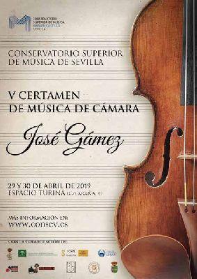 Cartel del V Certamen de Música de Cámara José Gámez