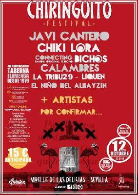Cartel del Festival Chiringuito Sevilla 2019